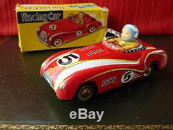 1$ Auction Rare Kang Yuan KY Red China MF 760 Tin Friction MGA Racing Car with Box