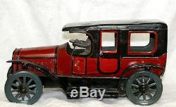 10 Rare Antique Karl Bub Tin Wind-up Toy Car C. 1910