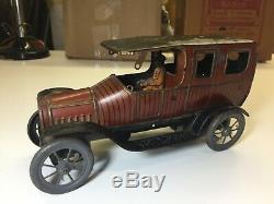 1910-1916 Fisher Meier Bub Ect German Tin Windup Limousine Car Original