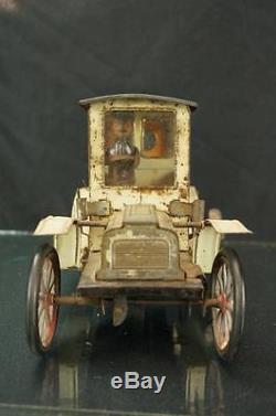 1910 German Carette Touring Limosine Clockwork Wind Up Original Car Vintage Toy