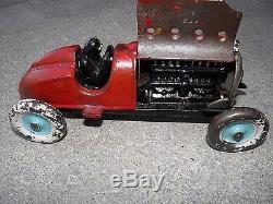 1920's Antique Vintage Hubley #5 Racer Car, Rare, Real Deal Here! Wow