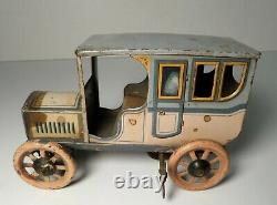 1920's Bing Germany Tin Litho Wind up Sedan Car Limousine Taxi Tippco Marklin