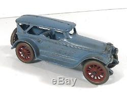 1920's CAST IRON A. C. WILLIAMS LINCOLN TOURING CAR AUTOMOBILE TOY 7 INCHES