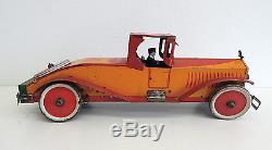 1920's Vintage Antique Marx Stutz Bearcat Tin Wind Up 16 Toy Car VERY RARE