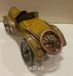 1920s 30s Tin Windup Race Car Runabout American Flyer Original