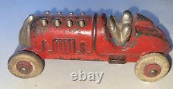 1920s CAST HUBLEY IRON RED PISTON RACER / RACE CAR #6