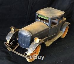 1920s US Toy Car Roadster w. Friction Motor by Schieble Toy Dayton Ohio (EsFh)