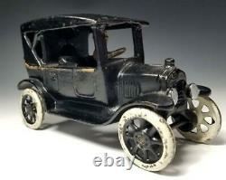 1923 Rare ARCADE Cast Iron Ford Model T TOURING CAR Still BANK