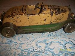 1929 Original Kilgore Cast Iron Stutz Convertible Roadster Car- Rare