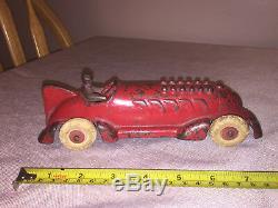 1930 Hubley cast Iron Car Racer Toy Car Nice Arcade