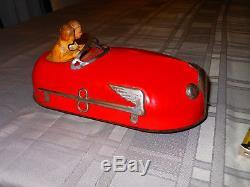 1930'S LINDSTROM Tin Windup Skeeter-Bug Bumper Car Toy Vintage