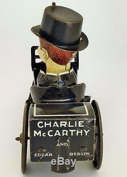 1930'S MARX CHARLIE McCARTHY CAR TIN LITHO WIND UP 7 1/4 LOOK THIS CONDITION
