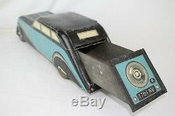 1930's Voision Large Streamline Biscuit Tin Car, Original