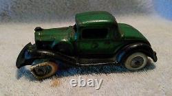 1930s Arcade Cast Iron Car Carrier Transporter Packard Pierce Arrow Stake Truck