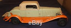1930s GIRARD MARX WIND-UP PIERCE ARROW COUPE PRESSED STEEL CAR NONE BETTER
