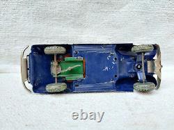 1930s Vintage Rare TN Trademark Kosuge Sedan Car Litho Windup Tin Toy Japan 8.6