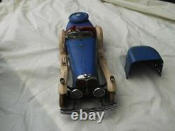 1934 rare Meccano no2 constructor car Blue and cream