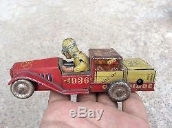 1936 Vintage V Rare Olympiade Berlin No. 1002 Wind Up Litho Tin Racer Car, Japan