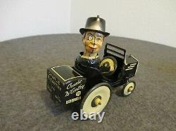 1938 MARX CHARLIE MCCARTHY IN HIS BENZINE BUGGY WIND-UP CAR With ORIGINAL BOX