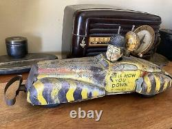 1939 Marx Charlie Mccarthy Private Car Tin Toy 16