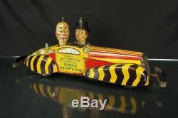 1939 Marx Tin Wind-up 16 Charlie Mccarthy Mortimer Snerd Private Car Vintage