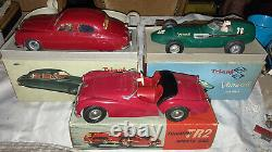 1950'S/60'S TRIANG ELECTRIC Jaguar 2.4 Rare Red 120 SCALE BOXED Vintage Minic