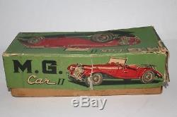 1950's A. H. I Brand, Made in Japan MG TD Tin Friction Car, Nice Original with Box