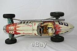 1950's Large Made in Japan Tin Friction #98 Champion Race Car, Original