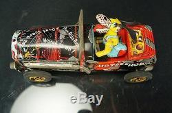 1950's Masuya Japan Hot Dog Rod Friction Powered Tin Car Vintage Original Boxed