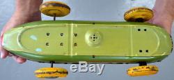 1950's Original Yonezawa ATOM #153 Friction Racer Tin Car Made in Japan