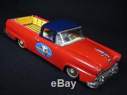 1950's VINTAGE 11.5 NEW FORD RANCHERO TRUCK CAR TIN LITHO BANDAI JAPAN with BOX