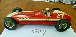 1950s vintage Marusan Japanese tin friction litho race car ...