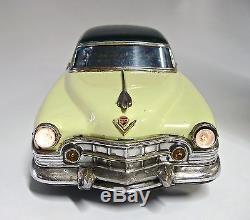 1951 Cadillac 12 Battery Operated Japanese Tin Car by Marusan NR