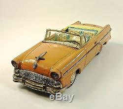 1955 Ford Convertible 12 Japanese Tin Car by Bandai NR
