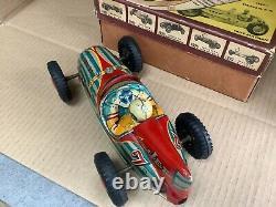 1955 Marusan Tinplate Friction Drive Jet Racer Boxed San Japan