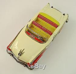 1956 Ford Sunliner Convertible 11.5 Japanese Tin Car by Mansei Haji NR