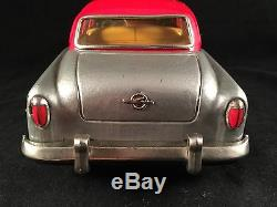 1956 Vintage Opel Olympia Rekord Tin Lithograph Toy Car Friction Japan Rare