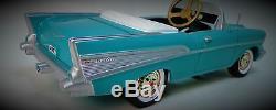 1957 Chevy Pedal Car Vintage BelAir Custom Metal Collector READ FULL DESCRIPTION