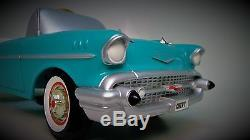 1957 Chevy Pedal Car Vintage BelAir Custom Metal Collector READ FULL DESCRIPTION