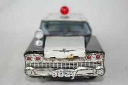 1958 Ford Tin Friction Police Car, Made in Japan, Nice Original