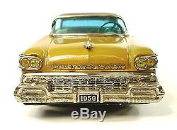 1958 Oldsmobile 2 Door Hardtop 11 3/4 Japanese Tin Car by Sankei/Okuma NR