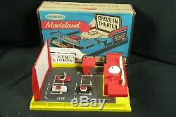 1959 Remco Movieland Drive-In Theater Theatre with 3 Toy Cars