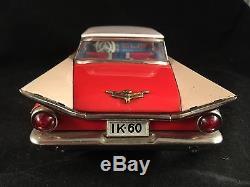 1959 Tin Toy Buick Friction 2 Door 11 Ichiko Japan Tin Lithograph Toy Car N/R