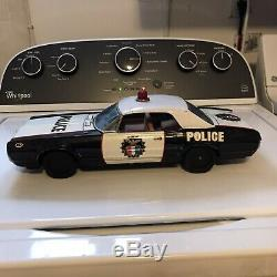 1960 Asakusa A1 Police Car Mercury Cougar Tin Toy Friction Made In Japan RARE