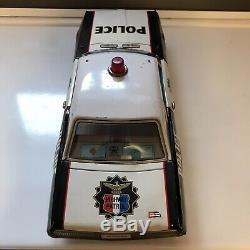 1960 Asakusa A1 Police Car Mercury Cougar Tin Toy Friction Made In Japan RARE