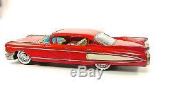 1960 Cadillac Eldorado 18 Customized Japanese Tin Car by Yonezawa NR