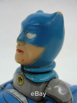 1960's MARX BATMAN BATMOBILE TIN FRICTION SUPER HERO TOY CAR COMIC With BOX