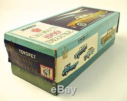 1960s Toyopet Crown 1900 Deluxe Japanese Tin Car with Original Box by ATC NR