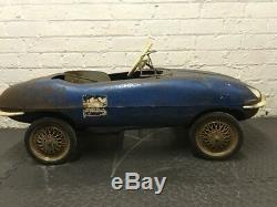 1960s Tri-ang E Type Jaguar Pedal Car