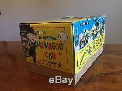 1961 HUBLEY OFFICIAL MR MAGOO CAR BATTERY OPERATED TOY With BOX IOB WORKS